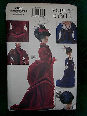 VOGUE Vintage Sewing Pattern 7100 11 1/2 inch Doll Historical Clothes Uncut