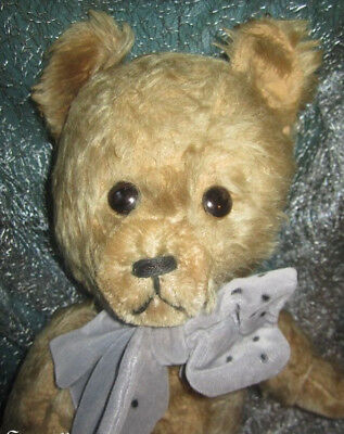 """♫ PELUCHE Vieil OURS """"OupsGris"""" Teddy Bear Antique, COLLECTION d'OURS Anciens ♫"""