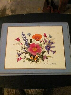Vintage Pimpernel Placemats (4) North American Wild Flowers