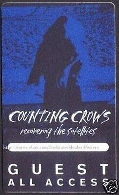 COUNTING CROWS backstage pass Tour Satin Cloth GUEST