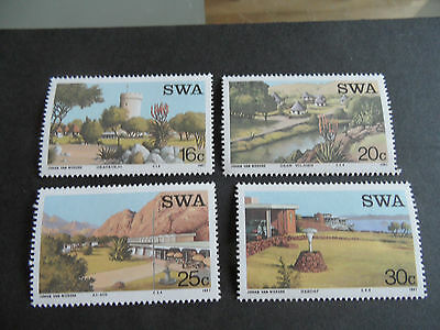 South West Africa 1987 Sg 479-482 Tourist Camps Mnh