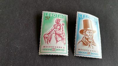 Lesotho 1970 Sg 180-181 Death Cent Of Chief Mnh