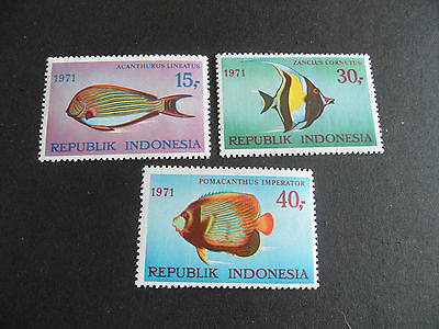 Indonesia 1971 Sg 1294-1296 Fishes (1St Series)  Mnh