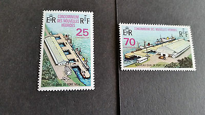 New Hebrides/french 1973 Sg F193-F194 Opening Of New Wharf Mnh