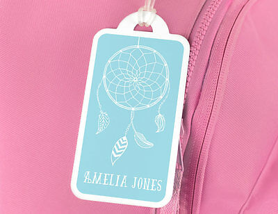 Bright Star Kids Personalised Name Tag for School Book Bag - Dreamcatcher