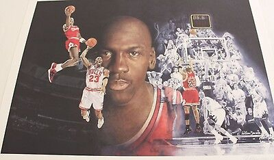 Large Michael Jordan Lithograph Print Signed/Autograph by William Zavala - Rare