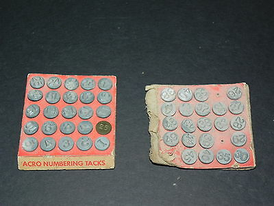 VINTAGE ACRO HOLD-TITE WINDOW NUMBERING TACKS ~ MADE in U.S.A.