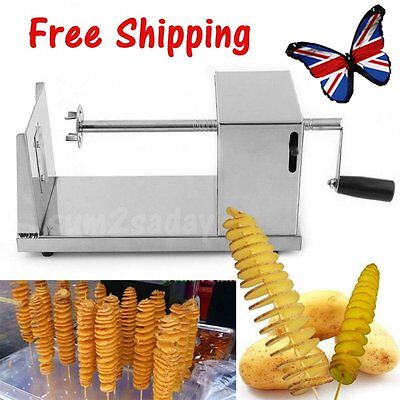 Manual Batata Stainless Steel Chip Tornado Potato Spiral Slicer Cutter Twist