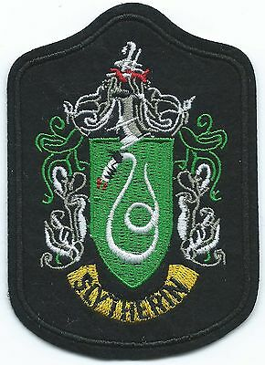 House Slytherin Embroidered Patch Iron-on Art Good Luck Magic Harry Potter