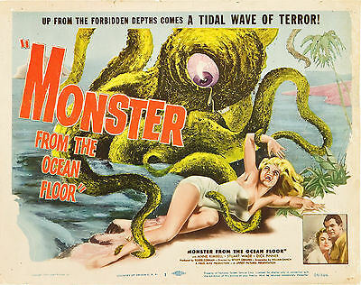 Monster From the Ocean Floor 11 X 14 Title Lobby Card LC Sexy Woman