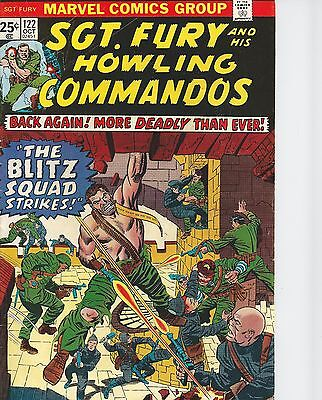 Sgt. Fury and His Howling Commandos #122 (Oct 1974, Marvel) FN/VF See Scans!
