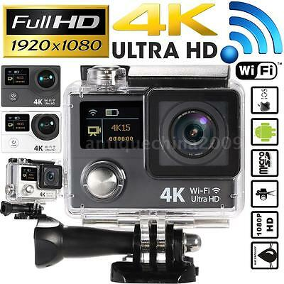 WiFi 4K Ultra HD 1080P Waterproof Sport DV Camera Action Helmet Video Camcorder