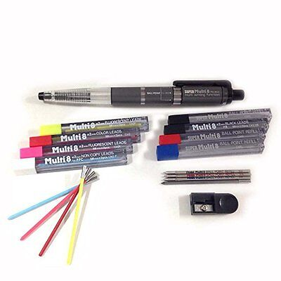 Stationery Pentel Super Multi 8 Automatic Mechanical Pencil Set PH803ST F/S