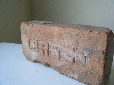 """Texas """"GREEN"""" imprinted red brick. Collect different bricks and make path wall!"""