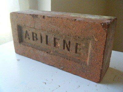"Texas ""ABILENE""  on red brick. Abilene Brick Co. Tx. start reclaimed collection!"