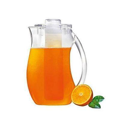 Jug with Ice Tube, 2.4L, Clear Polycarbonate, Serroni, Pitcher / Chilled Drinks