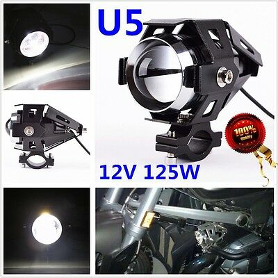125W Motorcycle CREE U5 LED Headlight Fog Driving Lamp Spot Light For BMW SELLE