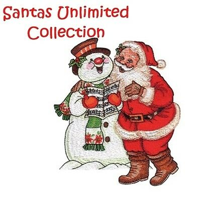 Santas Unlimited Collection - Machine Embroidery Designs On Cd
