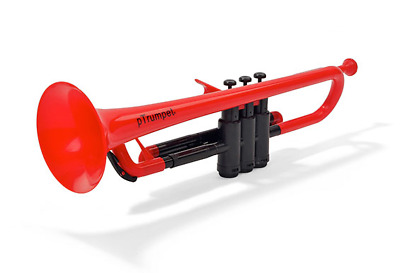 PLASTIC TRUMPET RED WITH BAG & MOUTHPIECES pTRUMPET