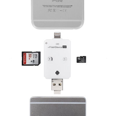 I3C iFlash Drive USB Micro SD/TF SDHC Card Reader Adapter for iPhone iPad