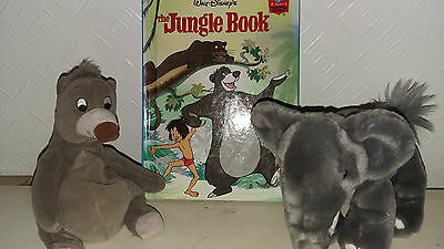 Walt Disney The Jungle Book with Baloo soft toy and elephant soft toy bundle