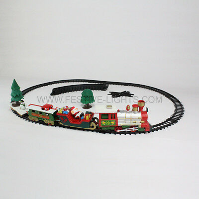 20 Piece Battery Operated Jingle Bells Music Christmas Child Gift Toy Train Set