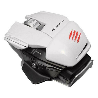 Mad Catz R.A.T.M Wireless Mobile Gaming Mouse For Pc White New Uk