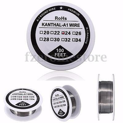 100Ft 24 Gauge AWG A1 Round Heating Resistance Coil Wire For RBA RBA RTA
