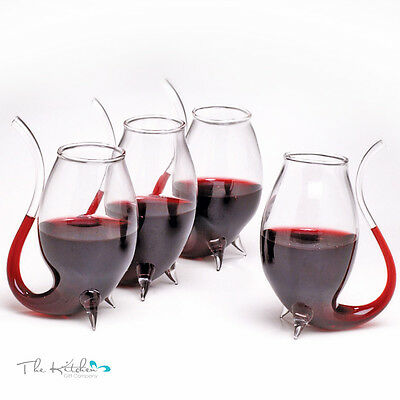 Set Of 4 Port Sipper Glasses - Sipping Liqueur Sippers Glass Drinking Gift Set