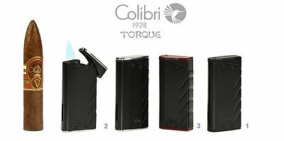 Accendino Lighter Colibri Torque Turbo 2 Fiamme  Jet Flame Antivento Wzs74