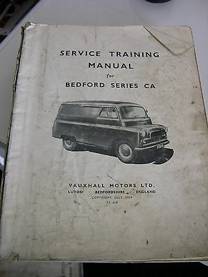 BEDFORD Series CA- Commercial Workshop Manual - July 1959 Rare
