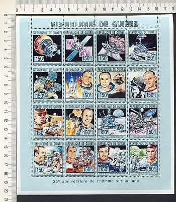 36424) GUINEA 1993 MNH** 25th ann. On the Moon S/S
