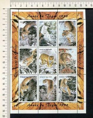 36425) GUINEA 1998 MNH** Year of the Tiger S/S