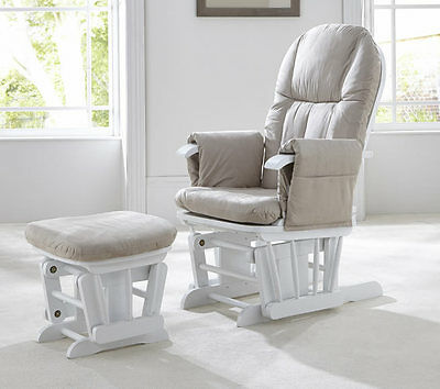 Brand new in box Tutti Bambini gc35 glider chair and stool in white wood