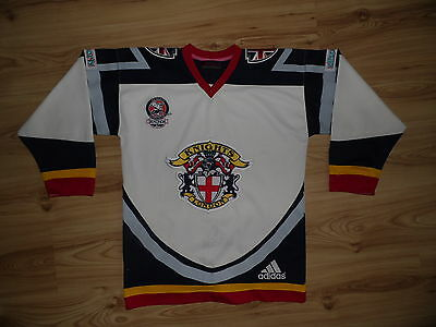 Vintage Jersey London Knights S Adidas Small Ice Hockey shirt BISL Great Britain
