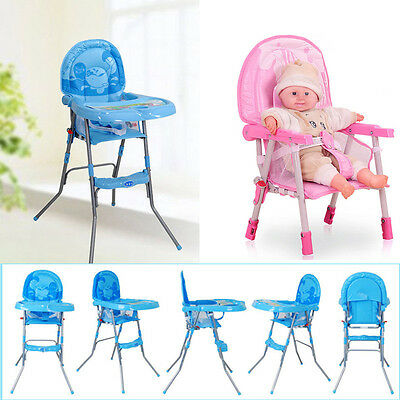 Adjustable Baby High Chair Infant Toddler Feeding Recliner Seat Chair Foldable