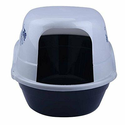 JO YOUNG Cat Litter Box, 25 Inch by 19 Inch by 17.5 Inch (Hooded litter box, whi