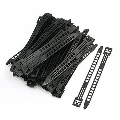 Uxcell Adjustable Organizer Self-locking Cable Ties, 9mm Wide, 100 Pcs, Black