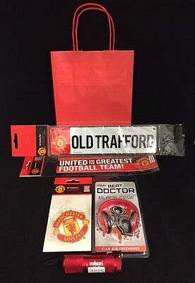 MUFC Manchester Man United Utd RED Gift Set - Christmas XMAS Gift Idea! FREE BAG