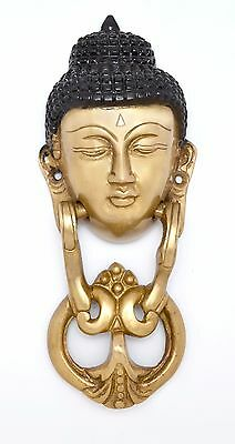 Buddha Door Knocker Buddhism Collectibles Solid Brass Tibet Home Decor New