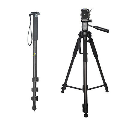 "Pro Heavy Duty 72"" Tripod + 72"" Monopod For Canon Cameras and Camcorders"
