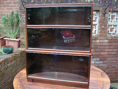 Minty Bookcase Stacking Glazed Cabinet Oxford Solid 1930s Mahogany