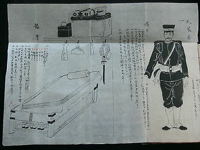 Japanese Army c.1890's Handwritten Infantryman's Military Manual with Drawings