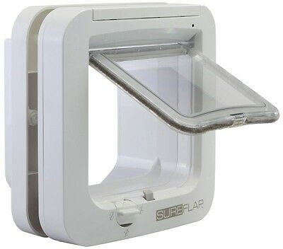 Back Door Microchip Cat Flap Entrance for Cats Small Dog or Cats