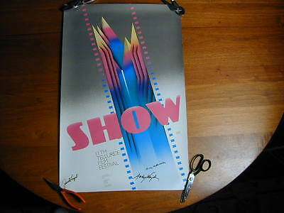 11th TELLURIDE FILM FESTIVAL 1984 SIGNED POSTER : JANET LEIGH H. HATHAWAY- WAJDA