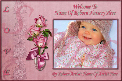 ~~Pink Rose Reborn Baby Auction Template With Or Without Music+Free Logo~~Doua
