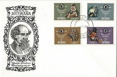 Botswana 1970 The 100th Anniversary of the Death of Charles Dickens FDC