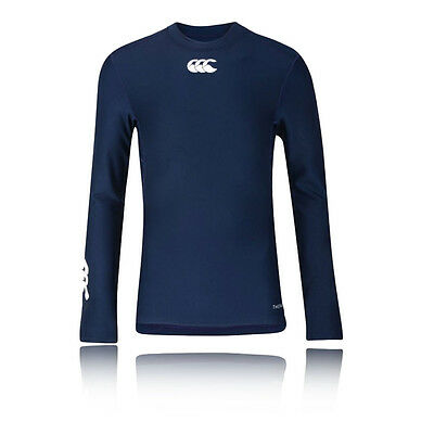 Canterbury Thermoreg Junior Bleu Manche Longue Col Rond Baselayer Sport Top