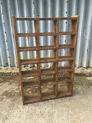 Industrial Up-Cycled Pigeon Hole Shoe Rack / Shelveing Unit.