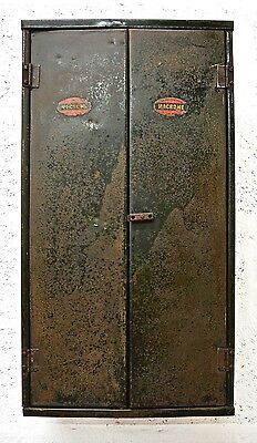 Retro Vintage Mid Century Metal Tool Cabinet by Macrome